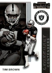 2019 Panini Contenders LEGENDARY CONTENDERS Insert - Pick Your Cards: #LC-TB Tim Brown  - Los Angeles Raiders