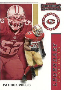 2019 Panini Contenders LEGENDARY CONTENDERS Insert - Pick Your Cards: #LC-PW Patrick Willis  - San Francisco 49ers