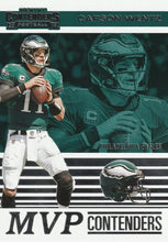 Load image into Gallery viewer, 2019 Panini Contenders MVP CONTENDERS Insert - Pick Your Cards: #MVP-CW Carson Wentz  - Philadelphia Eagles