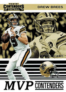 2019 Panini Contenders MVP CONTENDERS Insert - Pick Your Cards: #MVP-DB Drew Brees  - New Orleans Saints