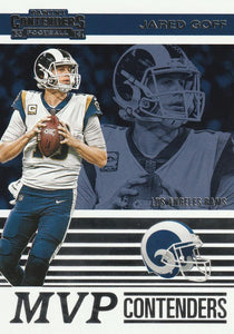 2019 Panini Contenders MVP CONTENDERS Insert - Pick Your Cards: #MVP-JG Jared Goff  - Los Angeles Rams