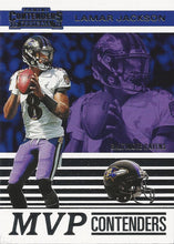 Load image into Gallery viewer, 2019 Panini Contenders MVP CONTENDERS Insert - Pick Your Cards: #MVP-LJ Lamar Jackson  - Baltimore Ravens