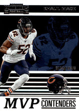 Load image into Gallery viewer, 2019 Panini Contenders MVP CONTENDERS Insert - Pick Your Cards: #MVP-KM Khalil Mack  - Chicago Bears