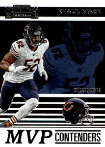 2019 Panini Contenders MVP CONTENDERS Insert - Pick Your Cards: #MVP-KM Khalil Mack  - Chicago Bears