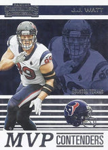 Load image into Gallery viewer, 2019 Panini Contenders MVP CONTENDERS Insert - Pick Your Cards: #MVP-JJ J.J. Watt  - Houston Texans