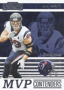 2019 Panini Contenders MVP CONTENDERS Insert - Pick Your Cards: #MVP-JJ J.J. Watt  - Houston Texans
