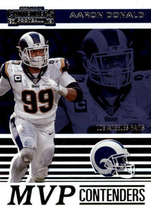 2019 Panini Contenders MVP CONTENDERS Insert - Pick Your Cards: #MVP-AD Aaron Donald  - Los Angeles Rams