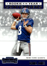 Load image into Gallery viewer, 2019 Panini Contenders ROOKIE OF THE YEAR CONTENDERS Insert - Pick Your Cards: #RYA-DJ Daniel Jones  - New York Giants