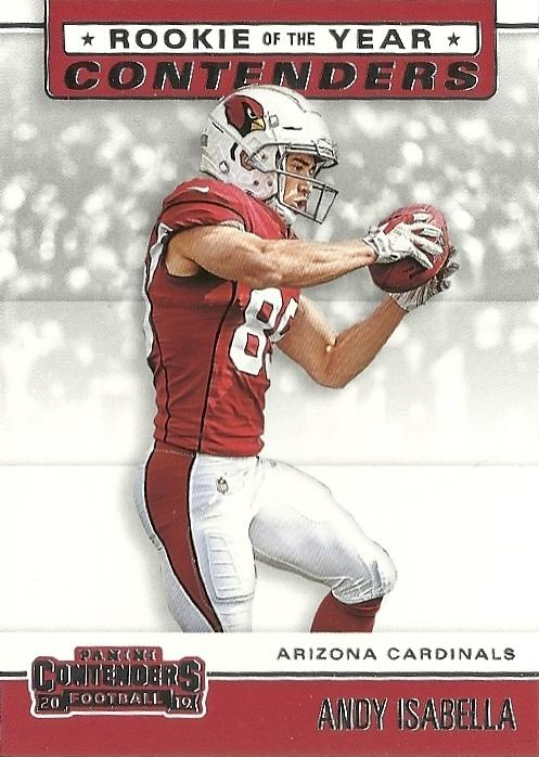 2019 Panini Contenders ROOKIE OF THE YEAR CONTENDERS Insert - Pick Your Cards: #RYA-AI Andy Isabella  - Arizona Cardinals