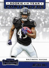 Load image into Gallery viewer, 2019 Panini Contenders ROOKIE OF THE YEAR CONTENDERS Insert - Pick Your Cards: #RYA-JH Justice Hill  - Baltimore Ravens