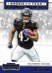 2019 Panini Contenders ROOKIE OF THE YEAR CONTENDERS Insert - Pick Your Cards: #RYA-JH Justice Hill  - Baltimore Ravens