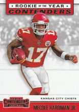 Load image into Gallery viewer, 2019 Panini Contenders ROOKIE OF THE YEAR CONTENDERS Insert - Pick Your Cards: #RYA-MH Mecole Hardman Jr.  - Kansas City Chiefs