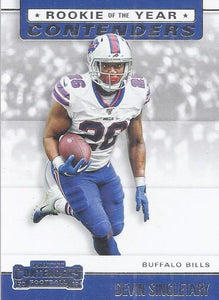 2019 Panini Contenders ROOKIE OF THE YEAR CONTENDERS Insert - Pick Your Cards: #RYA-DS Devin Singletary  - Buffalo Bills