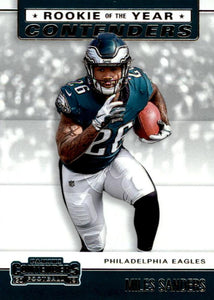 2019 Panini Contenders ROOKIE OF THE YEAR CONTENDERS Insert - Pick Your Cards: #RYA-MS Miles Sanders  - Philadelphia Eagles