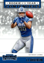 Load image into Gallery viewer, 2019 Panini Contenders ROOKIE OF THE YEAR CONTENDERS Insert - Pick Your Cards: #RYA-TH T.J. Hockenson  - Detroit Lions