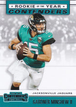 Load image into Gallery viewer, 2019 Panini Contenders ROOKIE OF THE YEAR CONTENDERS Insert - Pick Your Cards: #RYA-GM Gardner Minshew II  - Jacksonville Jaguars