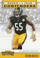 Load image into Gallery viewer, 2019 Panini Contenders ROOKIE OF THE YEAR CONTENDERS Insert - Pick Your Cards: #RYA-DB Devin Bush II  - Pittsburgh Steelers