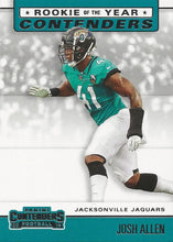 Load image into Gallery viewer, 2019 Panini Contenders ROOKIE OF THE YEAR CONTENDERS Insert - Pick Your Cards: #RYA-JA Josh Allen  - Jacksonville Jaguars