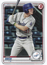 Load image into Gallery viewer, 2020 Bowman Baseball Cards - Prospects (1-100): #BP-4 Kody Hoese