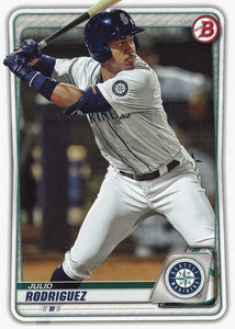 2020 Bowman Baseball Cards - Prospects (1-100): #BP-19 Julio Rodriguez