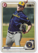 Load image into Gallery viewer, 2020 Bowman Baseball Cards - Prospects (1-100): #BP-34 Zack Brown