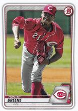 Load image into Gallery viewer, 2020 Bowman Baseball Cards - Prospects (1-100): #BP-47 Hunter Greene