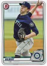 Load image into Gallery viewer, 2020 Bowman Baseball Cards - Prospects (1-100): #BP-58 Logan Gilbert