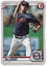 Load image into Gallery viewer, 2020 Bowman Baseball Cards - Prospects (1-100): #BP-78 Chris Vallimont