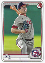 Load image into Gallery viewer, 2020 Bowman Baseball Cards - Prospects (1-100): #BP-83 Tim Cate
