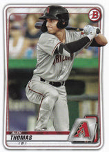 Load image into Gallery viewer, 2020 Bowman Baseball Cards - Prospects (1-100): #BP-98 Alek Thomas