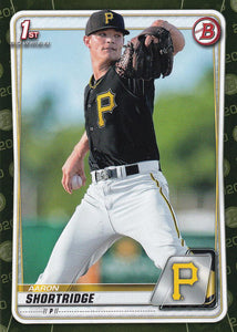 2020 Bowman Baseball Cards - Prospects CAMO PARALLEL (1-100): #BP-9 Aaron Shortridge