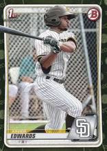Load image into Gallery viewer, 2020 Bowman Baseball Cards - Prospects CAMO PARALLEL (1-100): #BP-10 Xavier Edwards