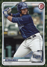 Load image into Gallery viewer, 2020 Bowman Baseball Cards - Prospects CAMO PARALLEL (1-100): #BP-12 Ronaldo Hernandez