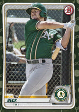 Load image into Gallery viewer, 2020 Bowman Baseball Cards - Prospects CAMO PARALLEL (1-100): #BP-16 Austin Beck