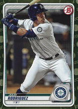 Load image into Gallery viewer, 2020 Bowman Baseball Cards - Prospects CAMO PARALLEL (1-100): #BP-19 Julio Rodriguez