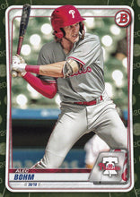 Load image into Gallery viewer, 2020 Bowman Baseball Cards - Prospects CAMO PARALLEL (1-100): #BP-29 Alec Bohm