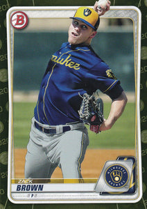 2020 Bowman Baseball Cards - Prospects CAMO PARALLEL (1-100): #BP-34 Zack Brown