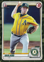 Load image into Gallery viewer, 2020 Bowman Baseball Cards - Prospects CAMO PARALLEL (1-100): #BP-38 Gus Varland
