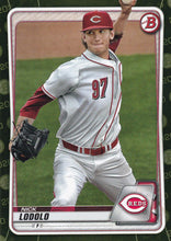 Load image into Gallery viewer, 2020 Bowman Baseball Cards - Prospects CAMO PARALLEL (1-100): #BP-39 Nick Lodolo