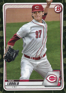 2020 Bowman Baseball Cards - Prospects CAMO PARALLEL (1-100): #BP-39 Nick Lodolo