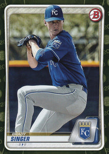2020 Bowman Baseball Cards - Prospects CAMO PARALLEL (1-100): #BP-42 Brady Singer