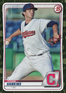2020 Bowman Baseball Cards - Prospects CAMO PARALLEL (1-100): #BP-44 Ethan Hankins