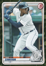 Load image into Gallery viewer, 2020 Bowman Baseball Cards - Prospects CAMO PARALLEL (1-100): #BP-45 Daz Cameron