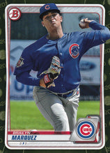 Load image into Gallery viewer, 2020 Bowman Baseball Cards - Prospects CAMO PARALLEL (1-100): #BP-49 Brailyn Marquez