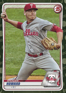2020 Bowman Baseball Cards - Prospects CAMO PARALLEL (1-100): #BP-55 Spencer Howard