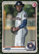 Load image into Gallery viewer, 2020 Bowman Baseball Cards - Prospects CAMO PARALLEL (1-100): #BP-56 Cristian Javier