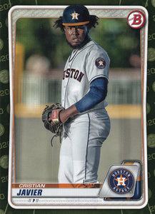 2020 Bowman Baseball Cards - Prospects CAMO PARALLEL (1-100): #BP-56 Cristian Javier