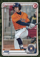 Load image into Gallery viewer, 2020 Bowman Baseball Cards - Prospects CAMO PARALLEL (1-100): #BP-61 Jeremy Pena