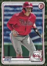 Load image into Gallery viewer, 2020 Bowman Baseball Cards - Prospects CAMO PARALLEL (1-100): #BP-68 Bryson Stott