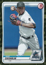 Load image into Gallery viewer, 2020 Bowman Baseball Cards - Prospects CAMO PARALLEL (1-100): #BP-72 Jazz Chisholm